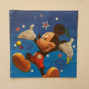 Mickey Mouse themed serviettes