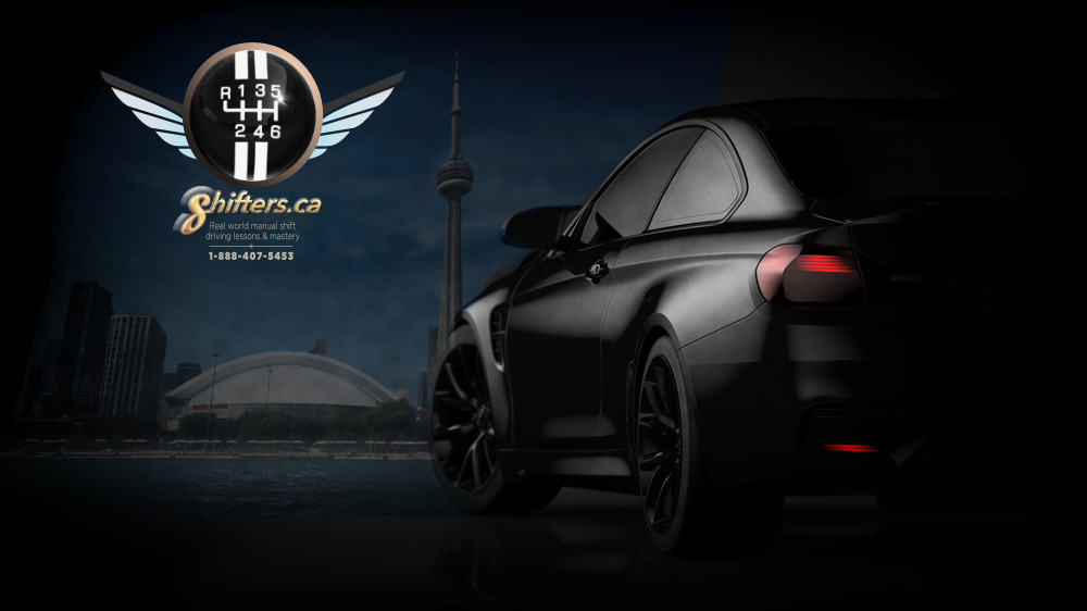 Shifters logo with car and CN tower