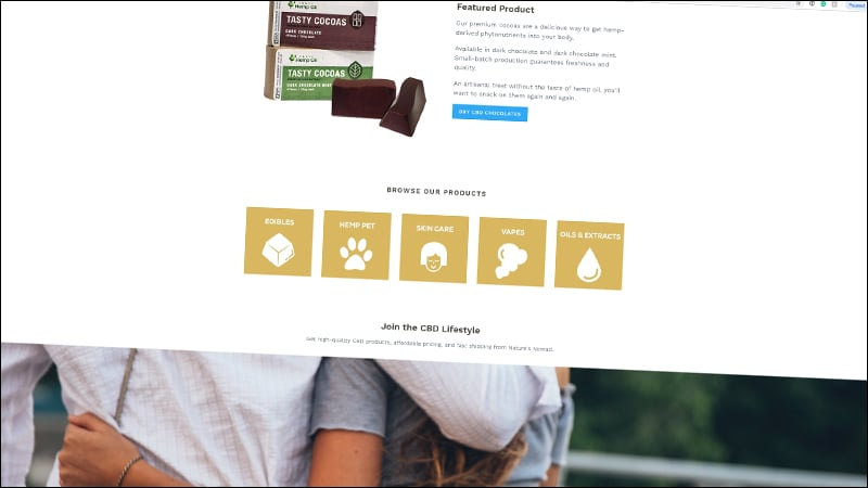natures nomad website featured product screenshot