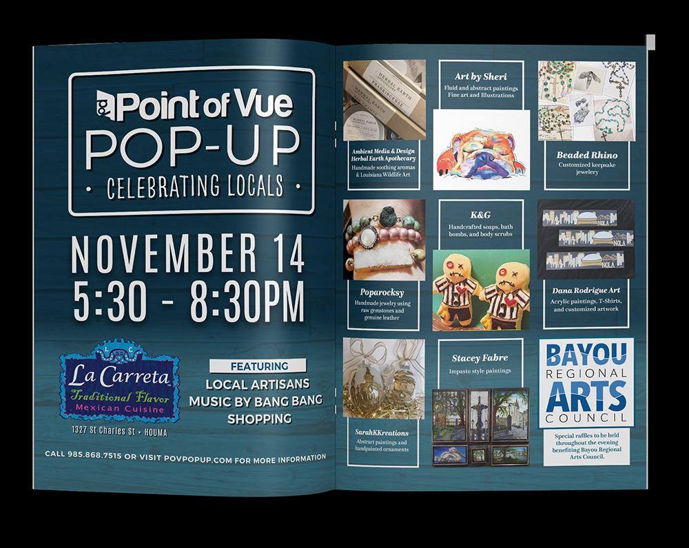 PoV Celebrating Locals - Pov Spread Mockup