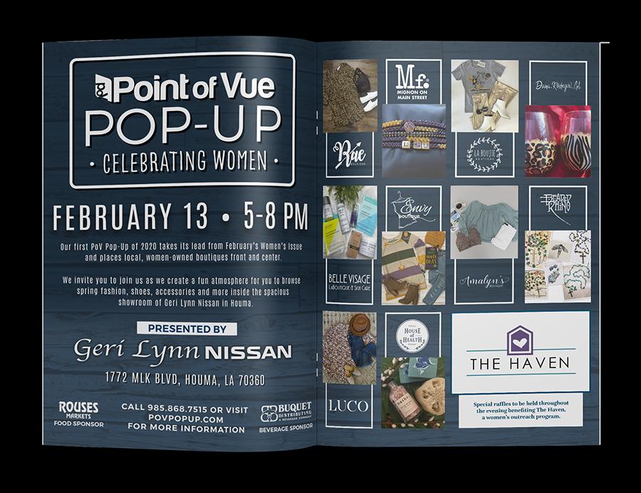 PoV Celebrating Women - Pov Spread Mockup