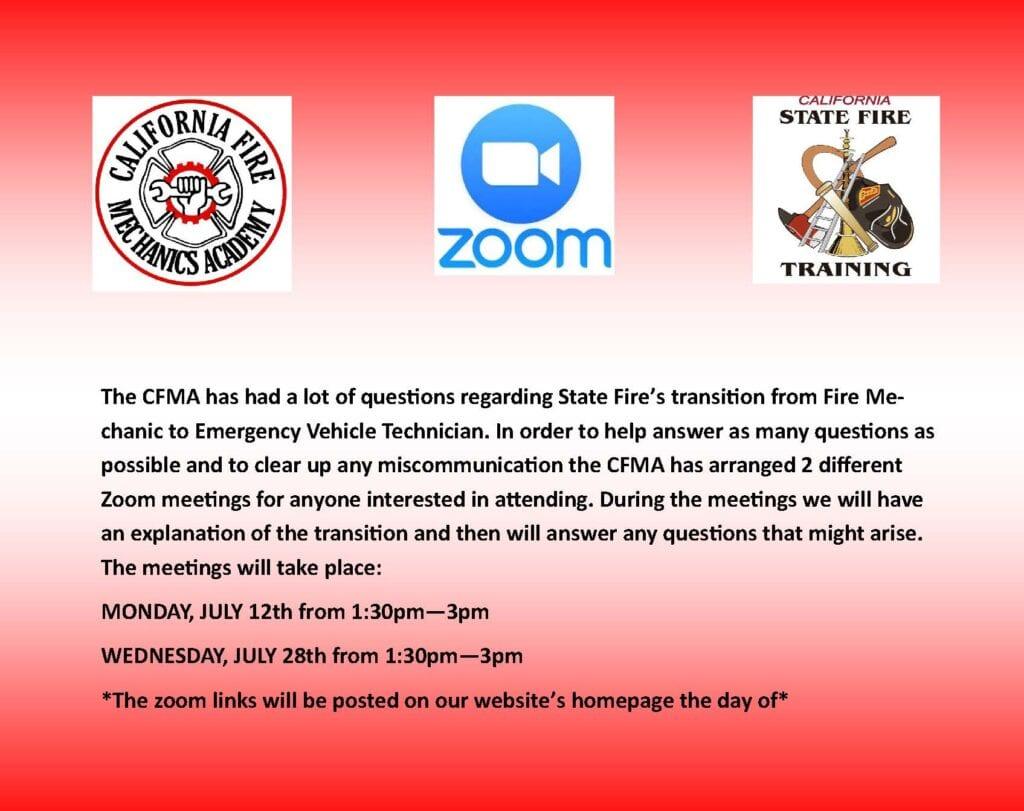 Zoom meeting flyer