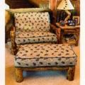 Extra Wide Log Chair and Ottoman Futon