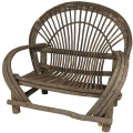 Willow Twig Love Seat with Bark On