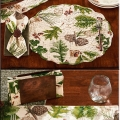 Woodsy Pine Table Linens, Placemats and Towels