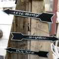 Metal Wedding Arrow Signs