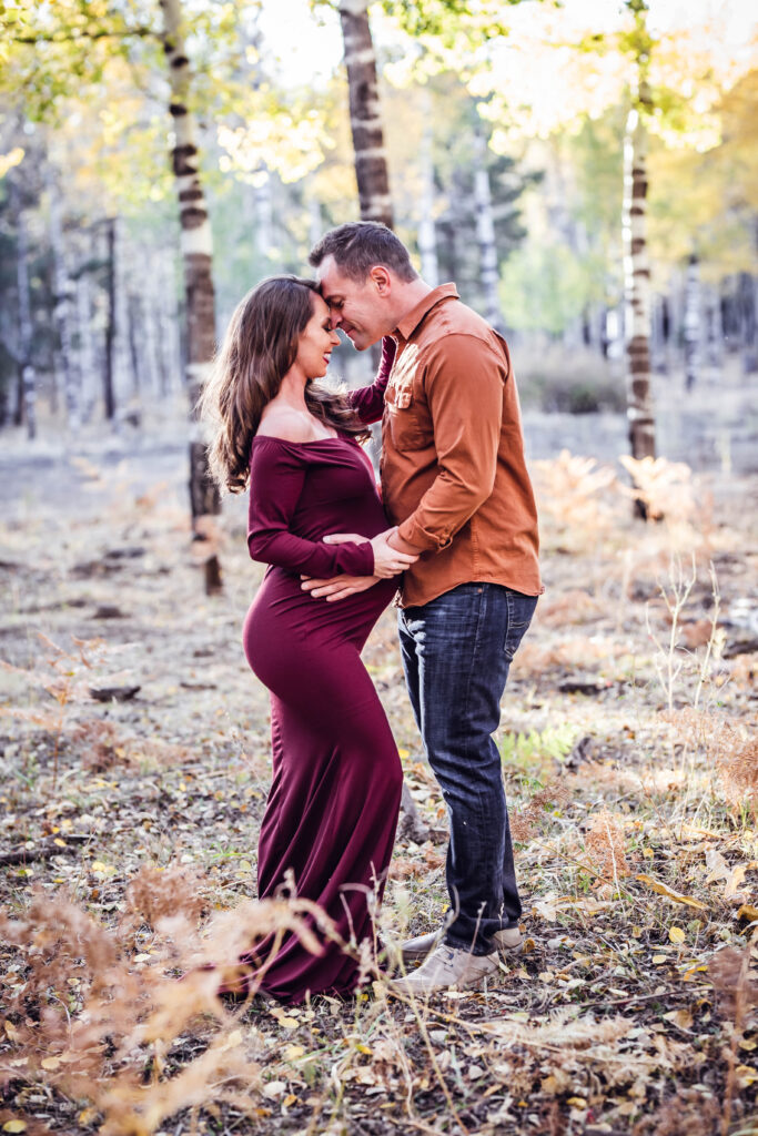 flagstaff maternity photographer tanee marie photography, fall aspens, hart prarie