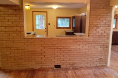 new opening between dining room and kitchen