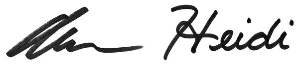 Alan & Heidi signature