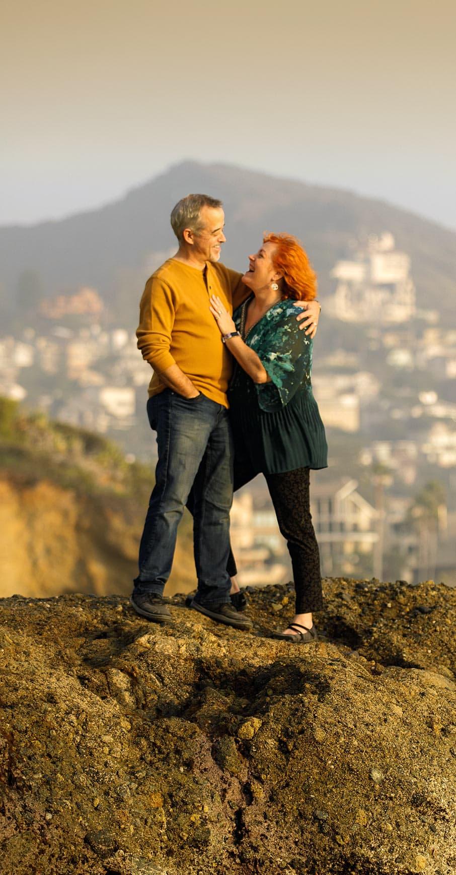 Alan & Heidi beach portrait