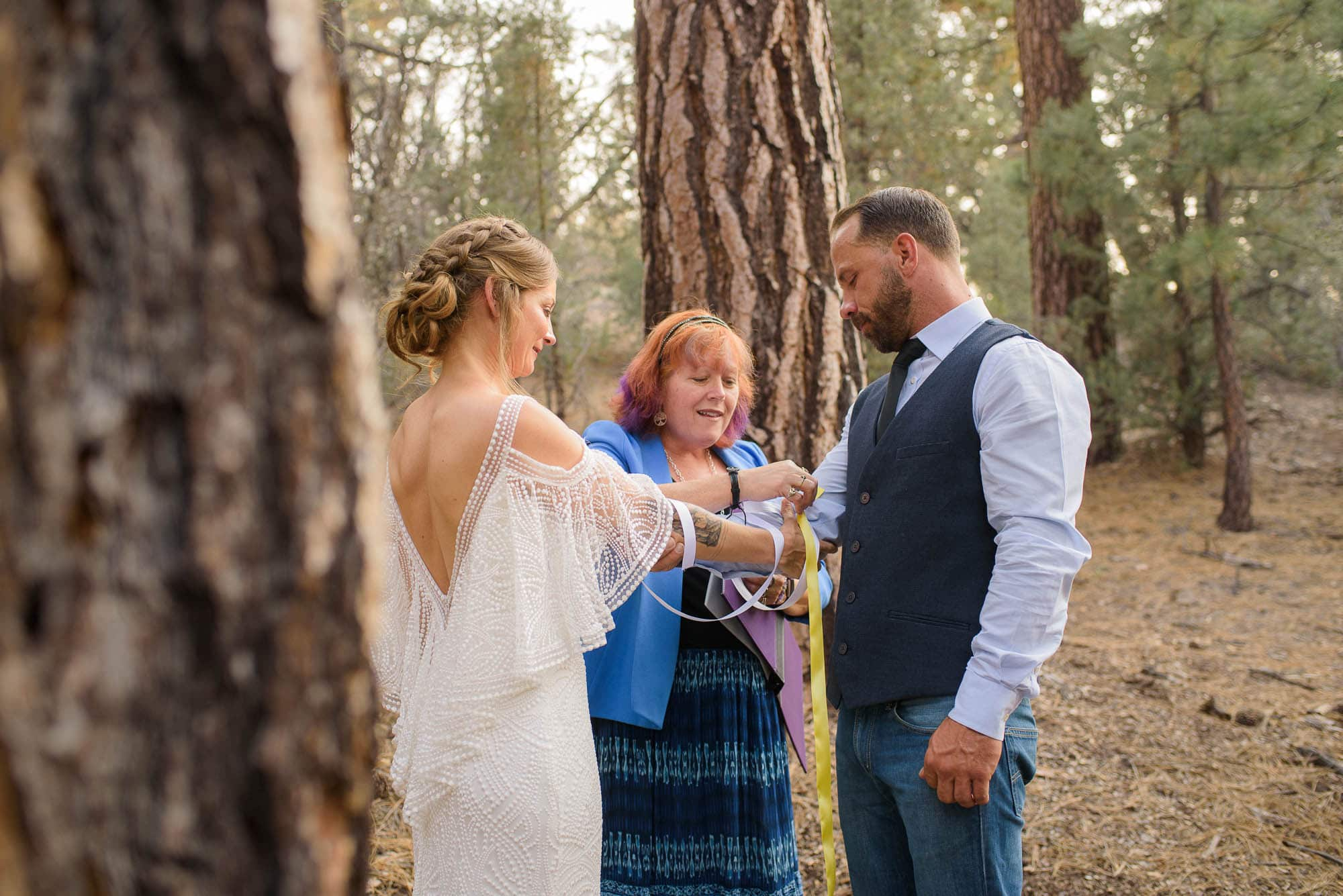 Alan & Heidi big bear elopement