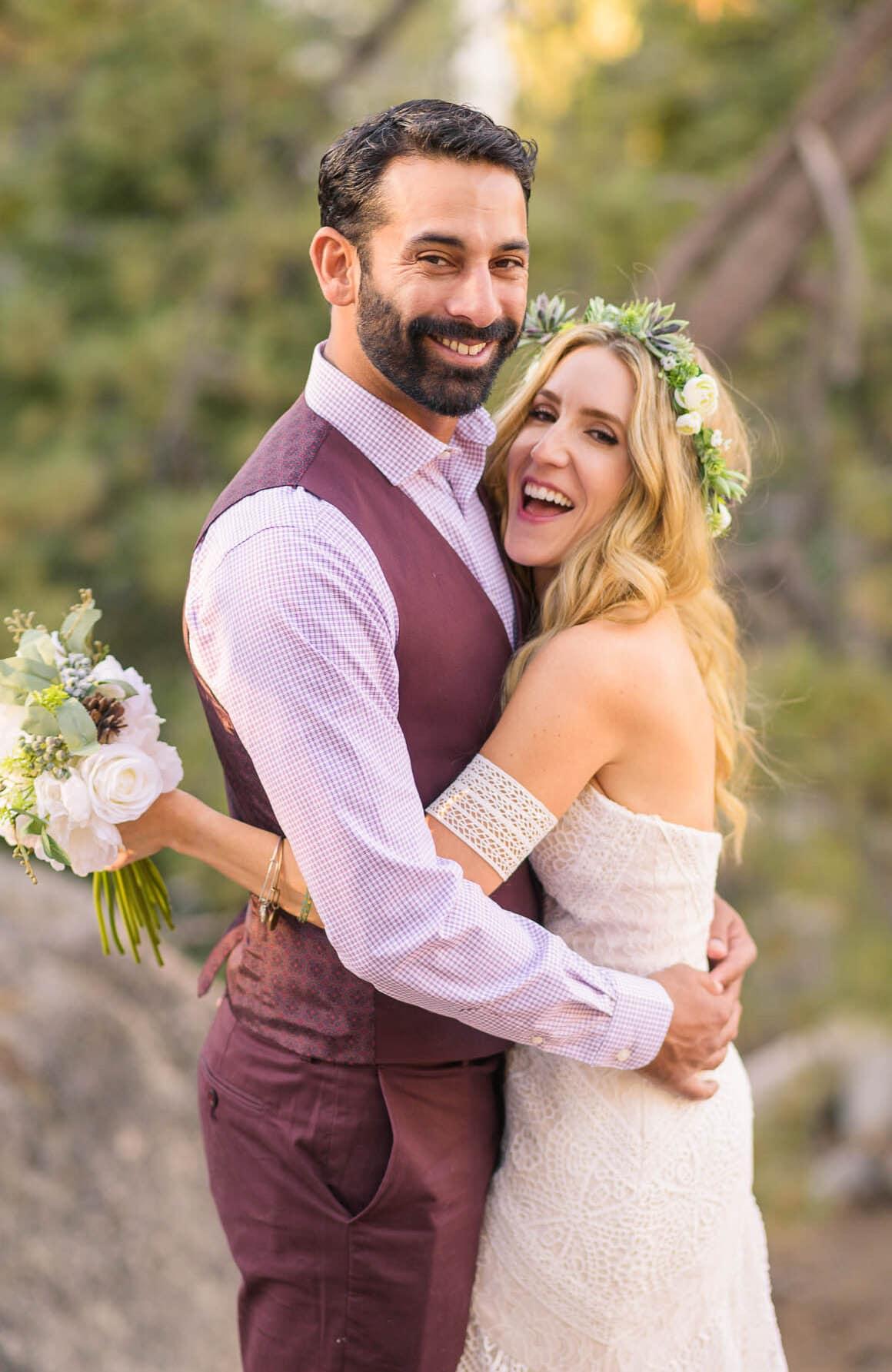 Alan & Heidi Big Bear Elopement Couple