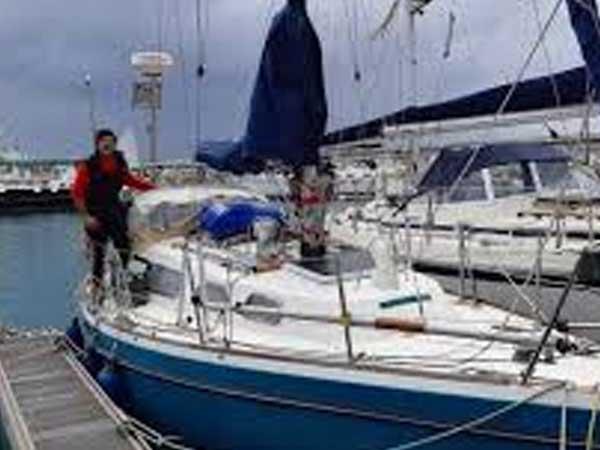 El marplatense que viene en velero desde Portugal para encontrarse con sus padres