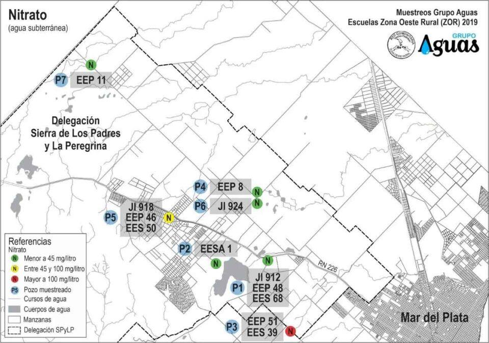 Detectan glifosato y otros contaminantes en el agua de cuatro escuelas de Mar del Plata