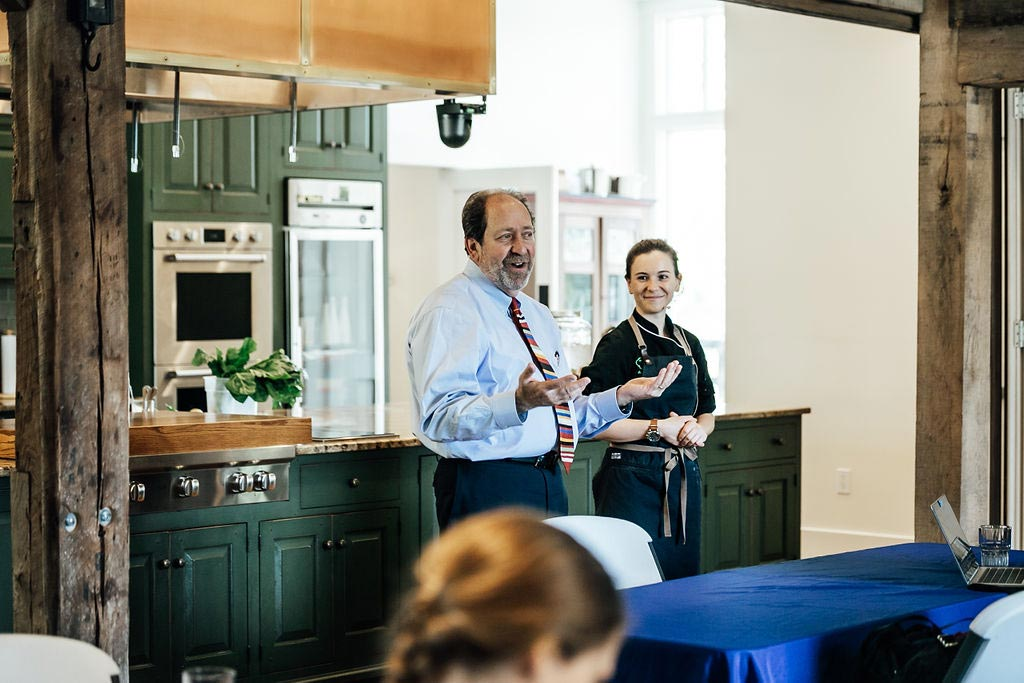 David Speaking at a Teaching Kitchen