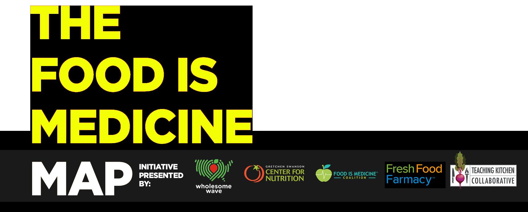 Food is Medicine Map logo with partner logos