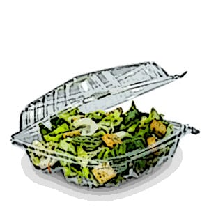 ClearSeal® Clear Plastic Hinged Lid Containers