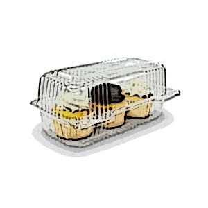 StayLock® Clear Plastic Hinged Lid Containers