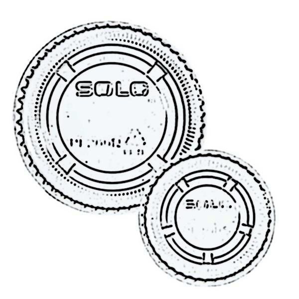 Solo® Ultra Clear™ Soufflés PET Portion Container Lids