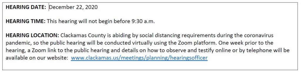 Notice of a Public Hearing on a Land Use Proposal in Your Area | Z0464-20-Conditional Use