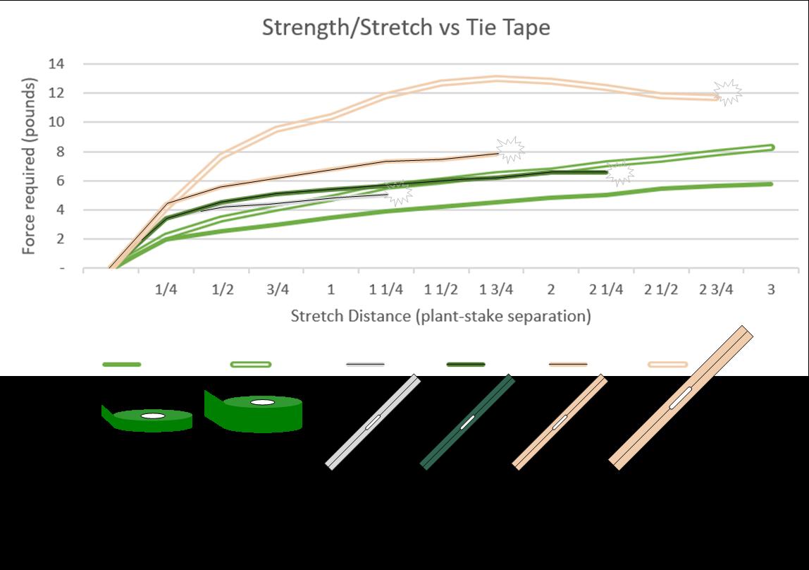 Strength & Stretch test graph