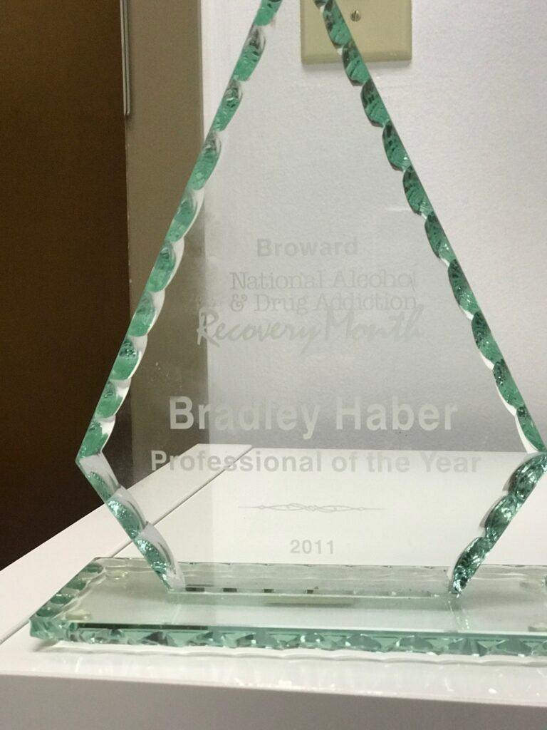Brad Haber - Award Broward National Alcohol & Drug Addiction