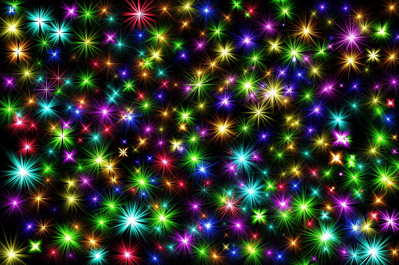 star, colorful, christmas