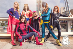 female superhero party