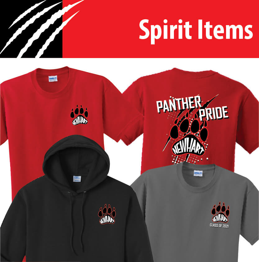 Newhart Middle School Panther Pride Spirit Items