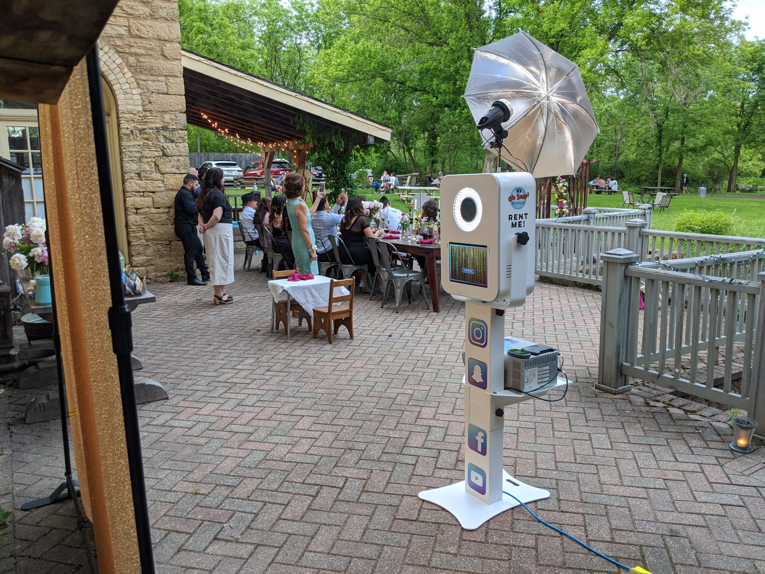 Photo booth outside