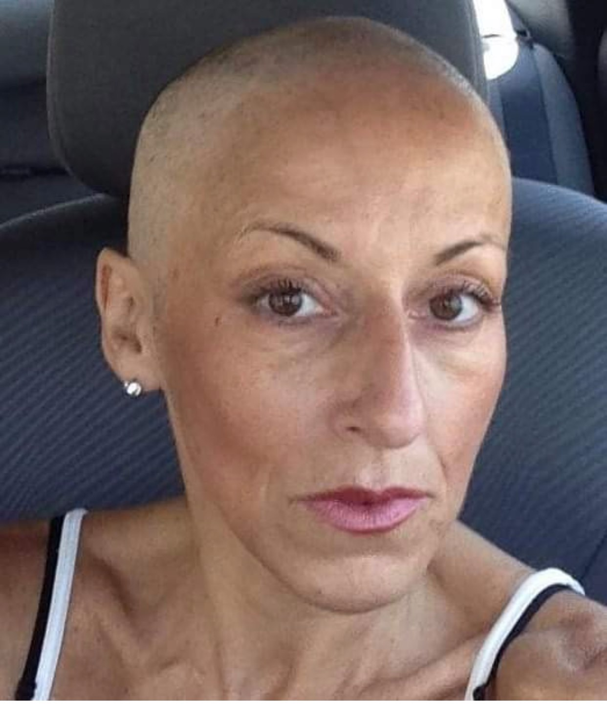 Robin in the midst of her battle with breast cancer
