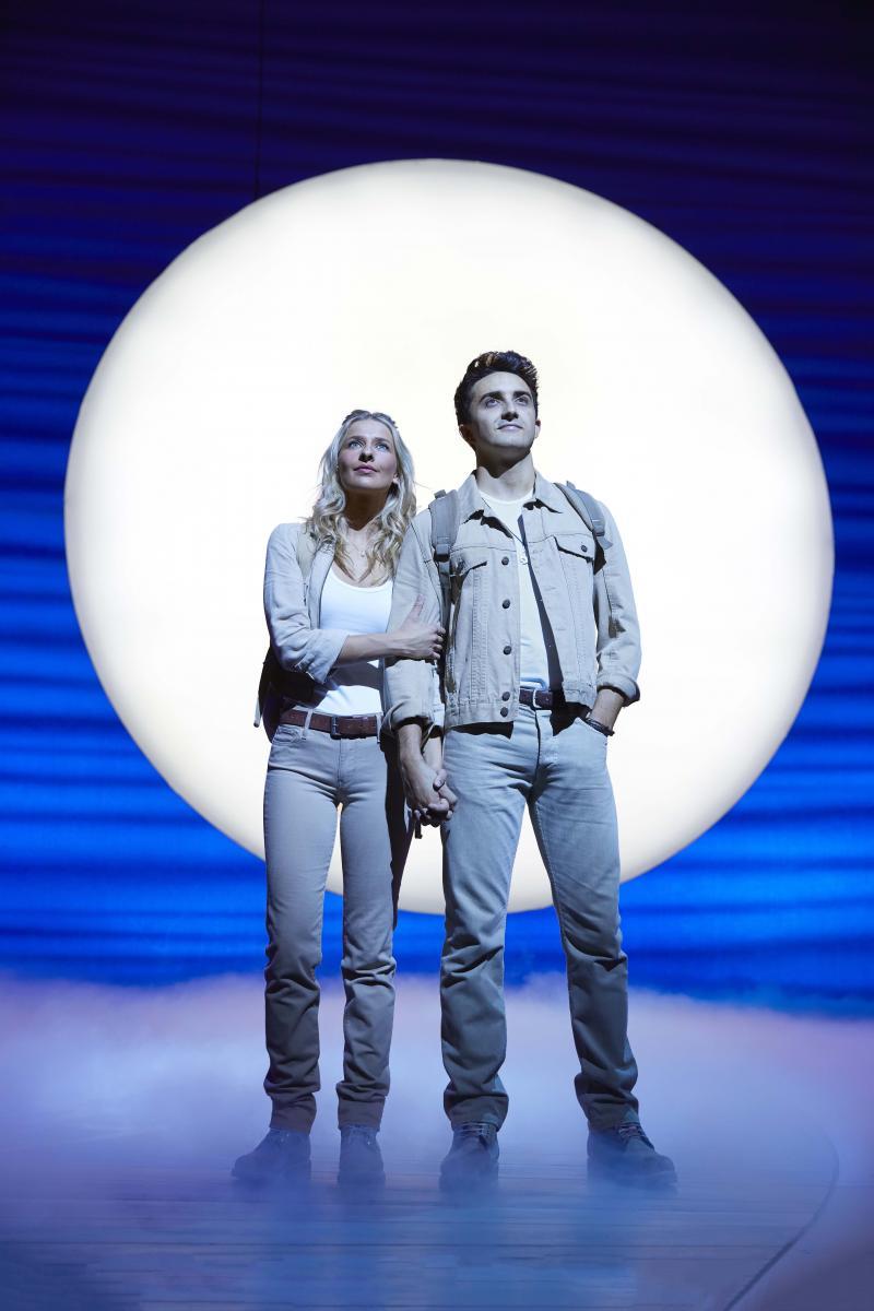 Georgina Castle as Sophie and Christopher Jordan-Marshall as Sky in MAMMA MIA!