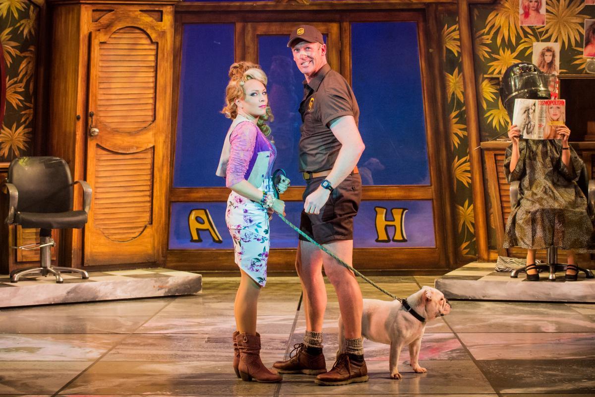 Legally Blonde The Musical 2017-18 Hair Affair Rita Simons (Paulette) Ben Harlow (Kyle)