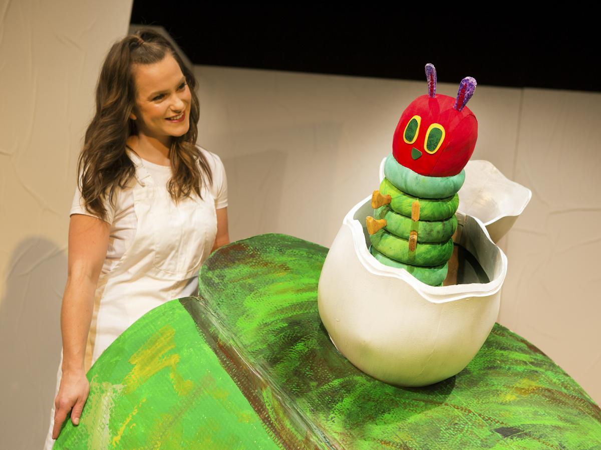 Sarah Hamilton in The Very Hungry Caterpillar Show. Photo Credit Pamela Raith Photography