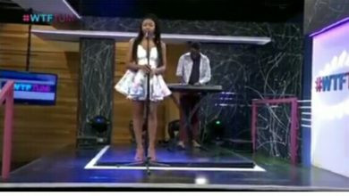 Photo of Frya performs on SABC 3 show.