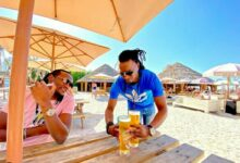 Photo of Jah Prayzah takes some time to cool off in Dubai.