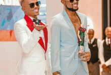 Photo of Somizi and Mohale get an early christmas gift.