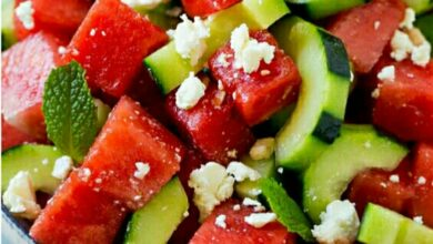 Photo of Refreshing Watermelon salad#HeartyXmasmeals.