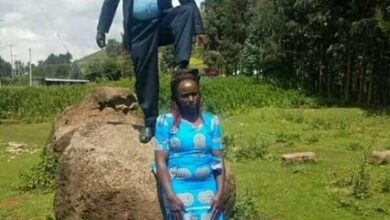 Photo of Image of husband stepping on wife's head goes viral