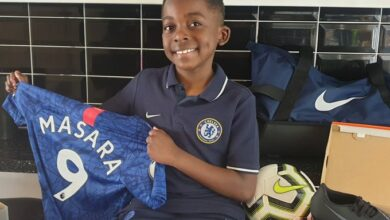 Photo of 8 year old Zimbabwean soccer player signed in by Chelsea