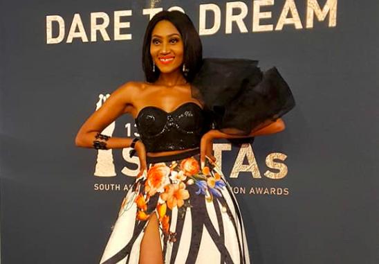 Mbo Mahocs Shines On SAFTA Red Carpet