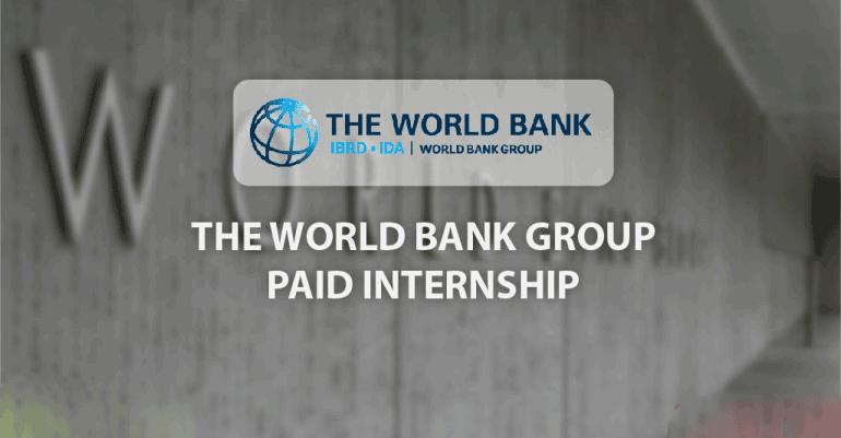 World Bank Group Summer Internship Program 2019