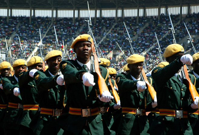 Members of the Zimbabwean national army