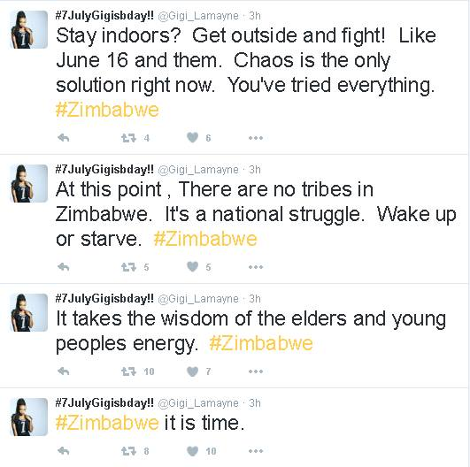 ''Get Inside And Fight Like June 16 And Them Zimbabwe It Is Time'' Says Gigi Lamayane