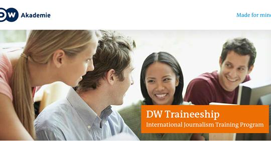 Deutsche Welle International Journalism Traineeship 2019