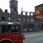 Hamilton Papermill burns