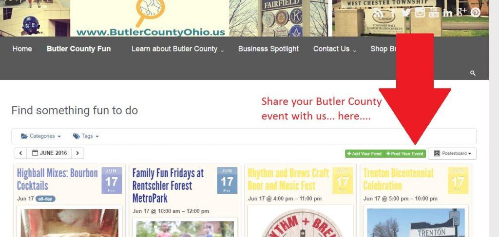 Butler County Calendar page