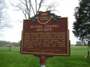 Bethel Chapel Butler County Historical Marker
