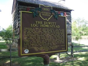 DeWitt Log Homestead Butler County Historic Marker