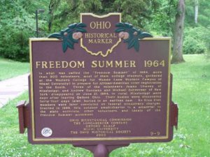 Freedom Summer 1964 Butler County Historical Marker